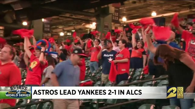 Fans take in Game 3 at Minute Maid Park