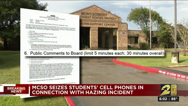 MCSO seizes students' cellphones in connection with hazing incident
