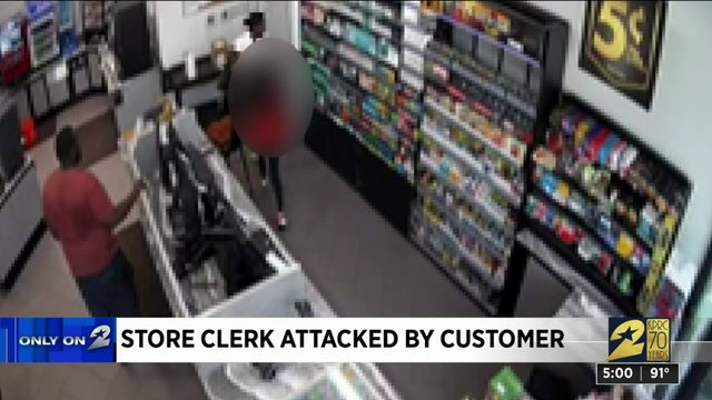 Store clerk attacked by customer