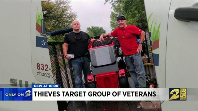 Thieves target group of veterans