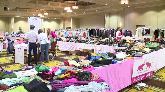 Sneak peek at items for sale at Pink Elephant Rummage Friday