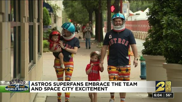 Astros superfans embrace the team, Space City excitement