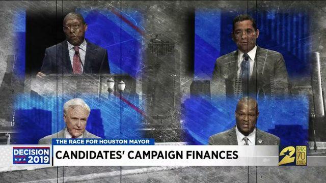 Candidates' campaign finances