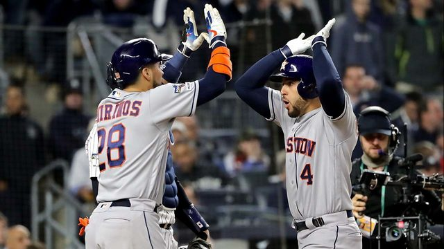 FOLLOW THE GAME: Springer's homer puts Astros in front of Yankees in…