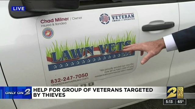 Help for group of veterans targeted by thieves