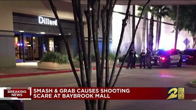 Smash and grab causes shooting scare at Baybrook Mall