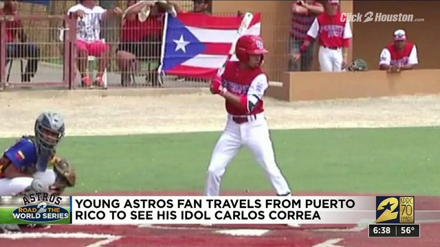 Young Astros fan travels from Puerto Rico to see Carlos Correa