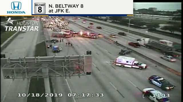 At least one dead in multi-car accident on Beltway near IAH