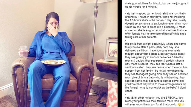 'You are special': Photo shows just how hard labor and delivery nurses work