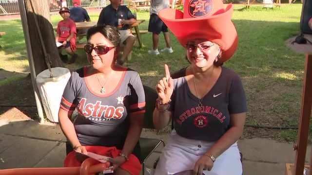 'It's all about superstition': Astros fans decked out in good luck gear…