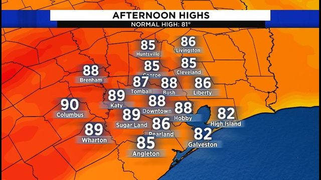 Saturday forecast: Another warm weekend ahead