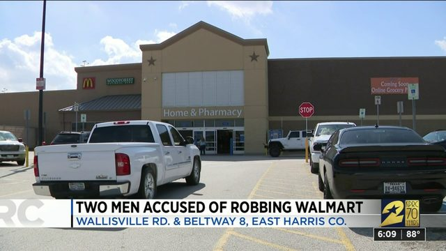 Two Men Accused of Robbing Walmart