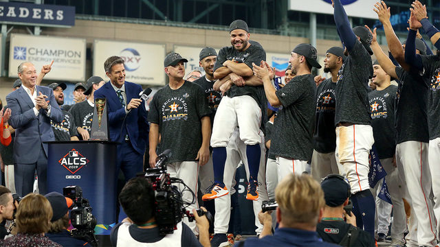 WATCH: See inside the locker room as the Astros celebrate their 2019 ALCS win