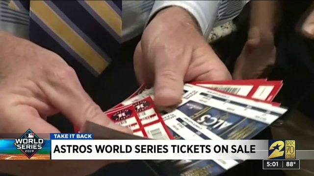 Astros World Series Tickets on Sale