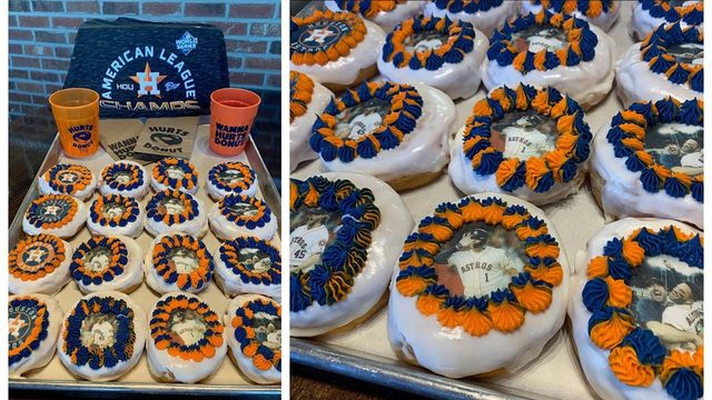 Take a dozen of these donuts to work this morning and share the Astros love!