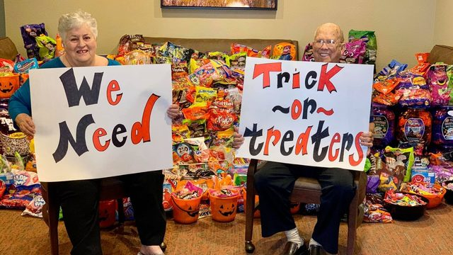 Calling all trick-or-treaters! Senior living home has massive horde of…