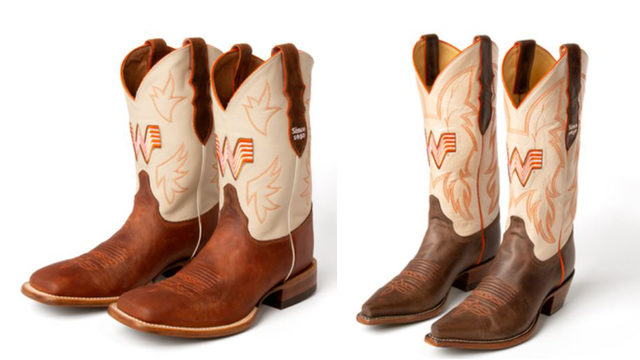Whataburger releases cowboy boots featuring orange theme, beloved burger…