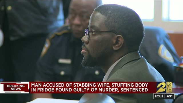 Man who murdered wife, stuffed body in fridge sentenced to life in prison
