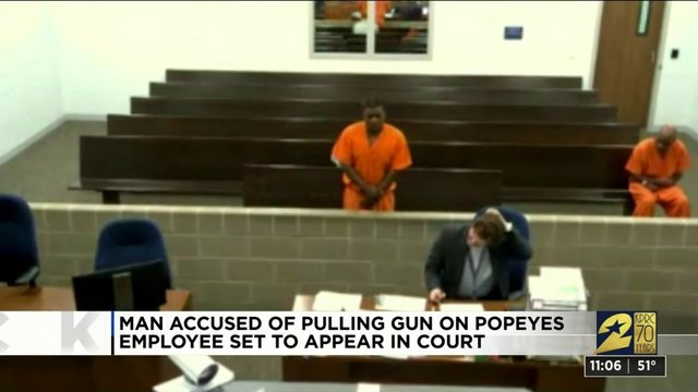 Man charged after police say he pulled gun on Popeyes employee over sold…