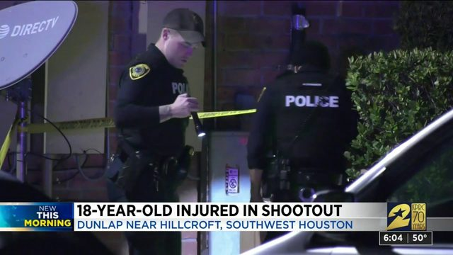 18-year-old injured in shootout in southwest Houston