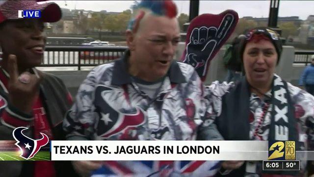 Texans vs. Jaguars in London Sunday, Nov. 2