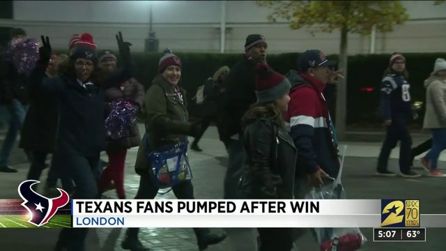 Texans Fans in London Pumped After Win
