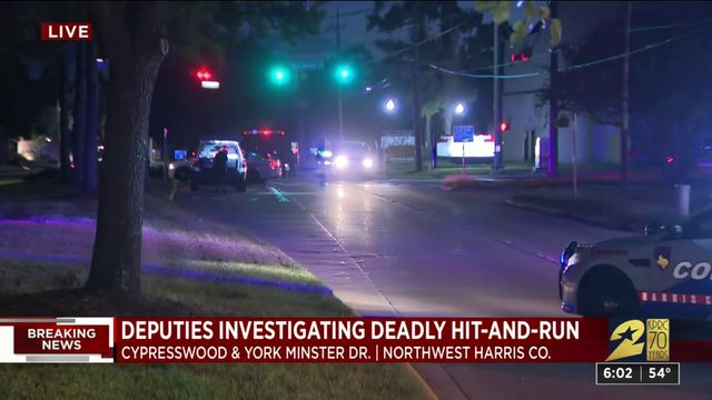 Pedestrian killed in hit-and-run wreck near northwest Harris County…