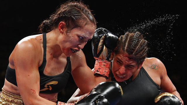NASTY CUT: Bloody bout between Houstonian Marlen Esparza and Seniesa…