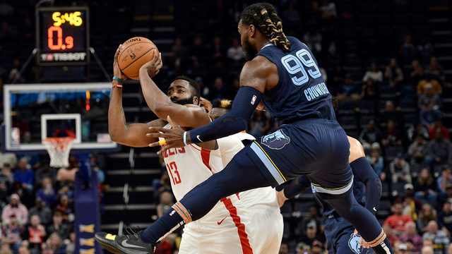 Harden scores 44, Rockets bounce back to beat Grizzlies