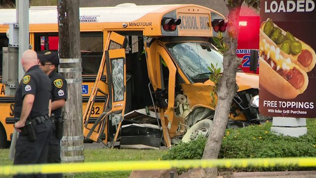 Driver in stolen truck crashes into Galena ISD school bus while fleeing…