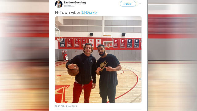 Rapper Drake spotted hanging out at University of Houston with basketball team