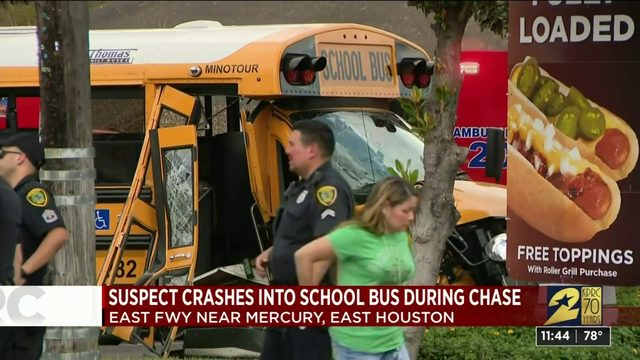 Galena ISD school bus hit by truck in east Houston Tuesday