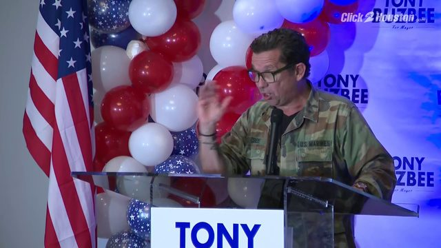 'I'm going to be your next mayor': Tony Buzbee speaks at watch party