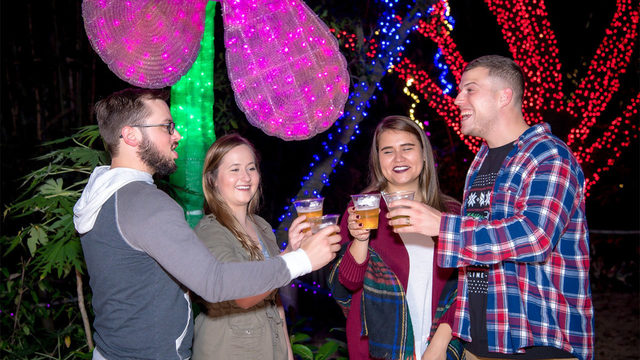 Adults only! Stroll through Houston zoo with adult beverages at Brew Lights