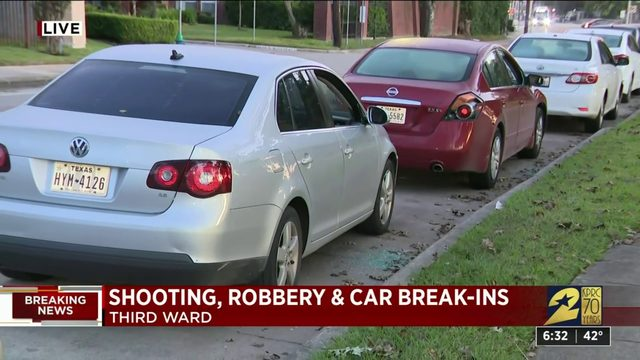 Car break-ins and shooting near Roseneath and Calhoun