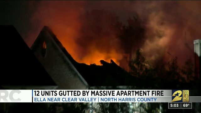 12 Units Gutted by Massive Apartment Fire