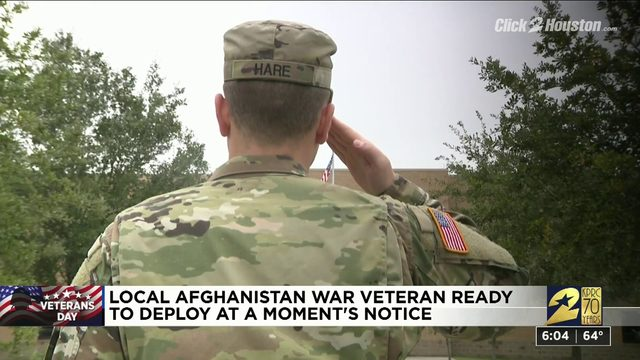 Local veteran ready to deploy at a moment's notice