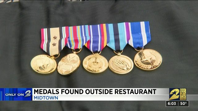 Medals found outside restaurant