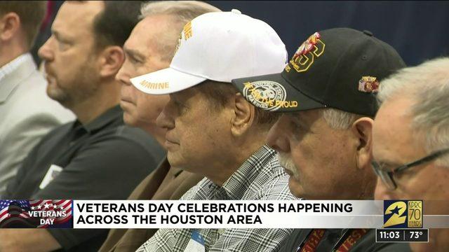 Veterans Day celebrations take place across Houston area