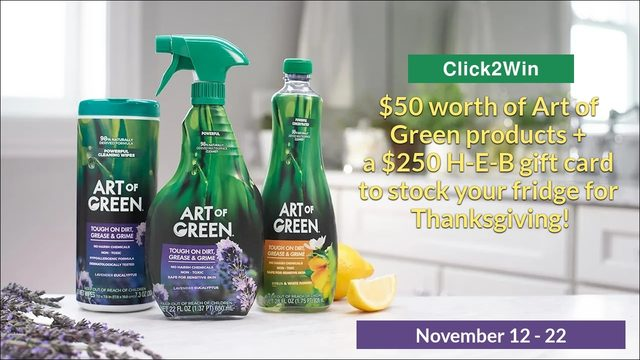 Click2Win: Clean the Fridge, Stock the Fridge Sweepstakes from Art of Green®