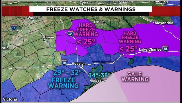 Hard freeze warning issued as temps expected to drop into 20s for some tonight