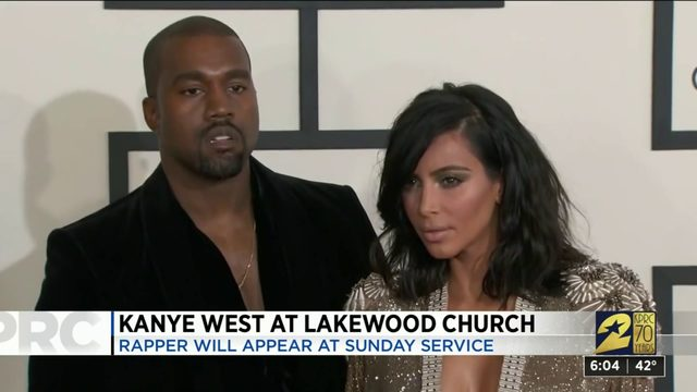 Kanye West at Lakewood Church