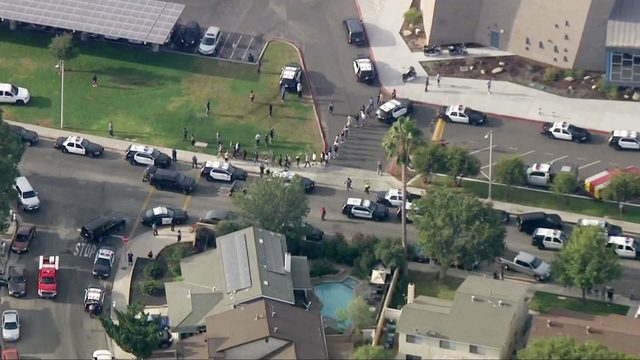 At least 3 hurt in California school shooting, gunman sought