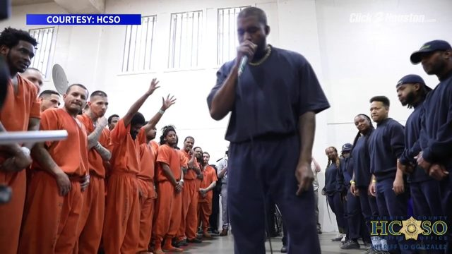 WATCH: Kanye West performs for inmates at Harris County Jail