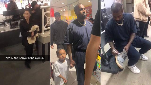Kanye West, Kim Kardashian spotted at Galleria in Houston