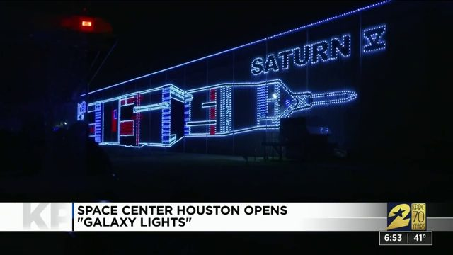 See out of this world holiday decorations at Space Center Houston